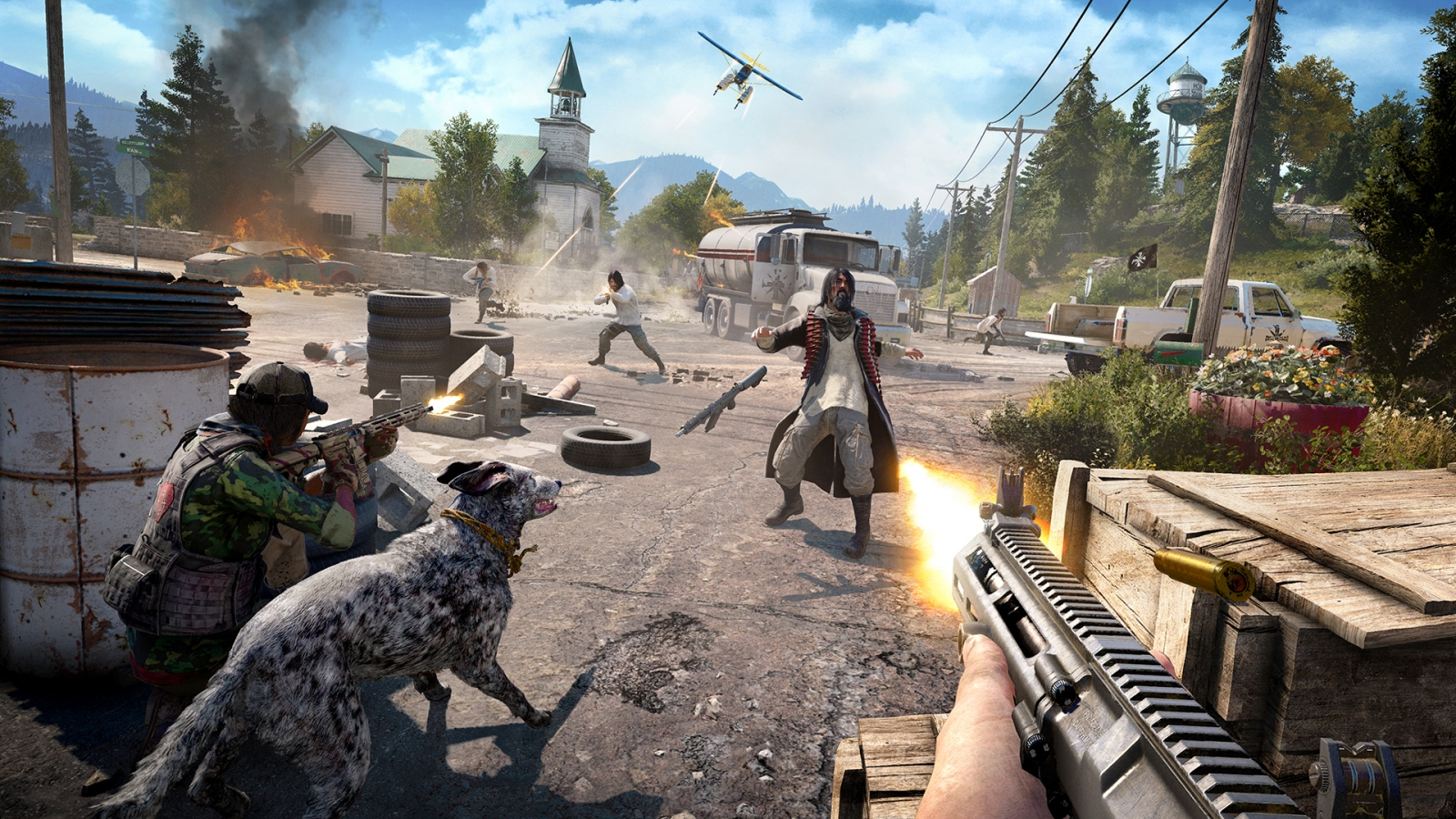 Far Cry 5 Trailer Features Explosive Action With Guns for Hire