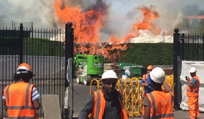 Fire brigade called to blaze at Wimbledon
