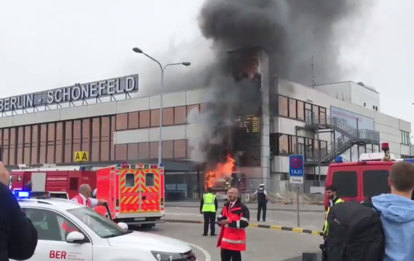 Berlin Schoenefeld airport fire