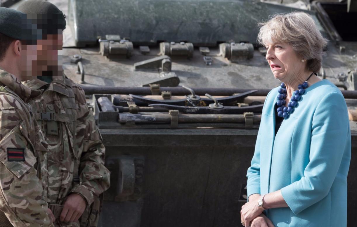 Theresa May troops