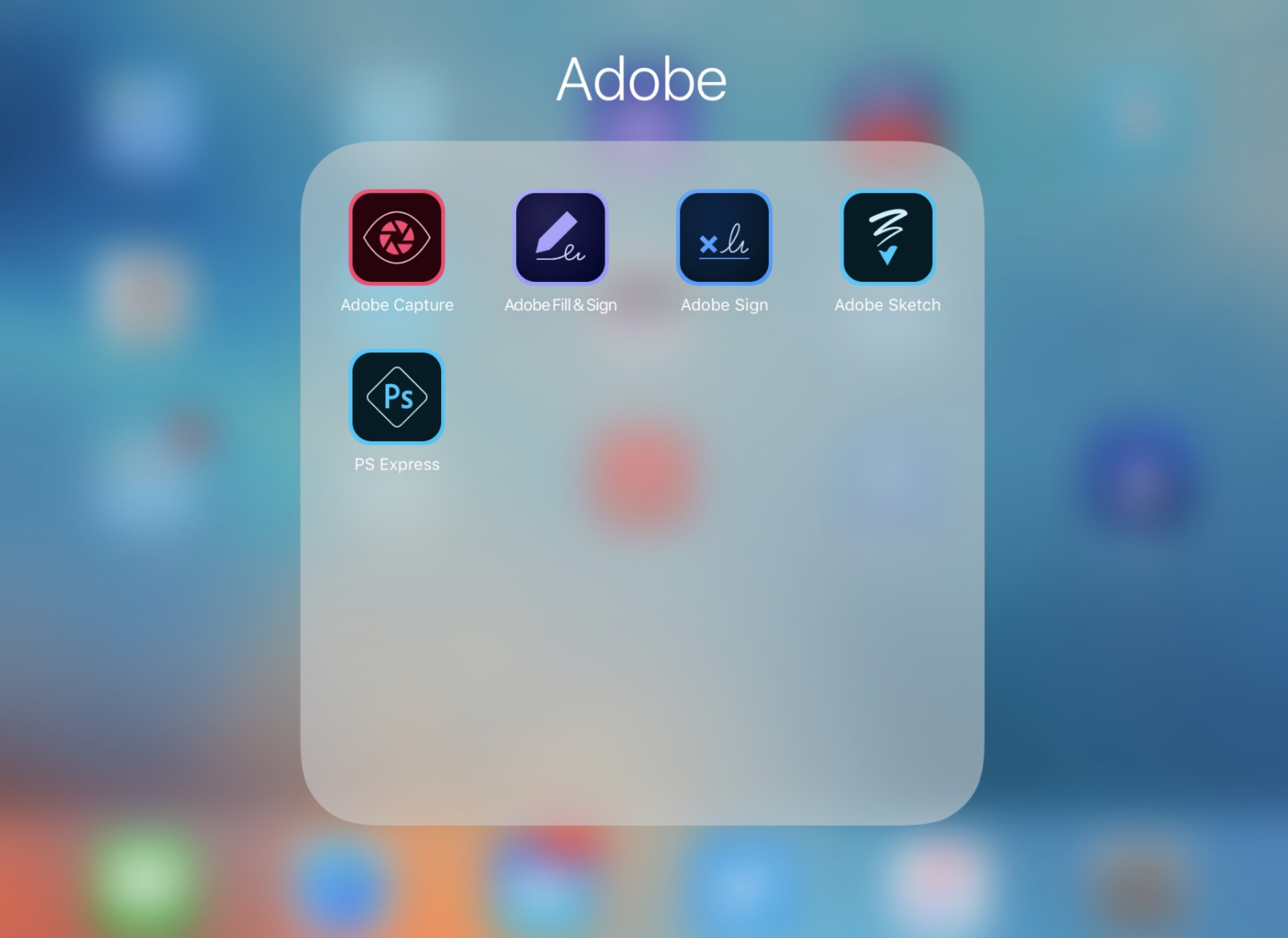 Adobe apps for iPad