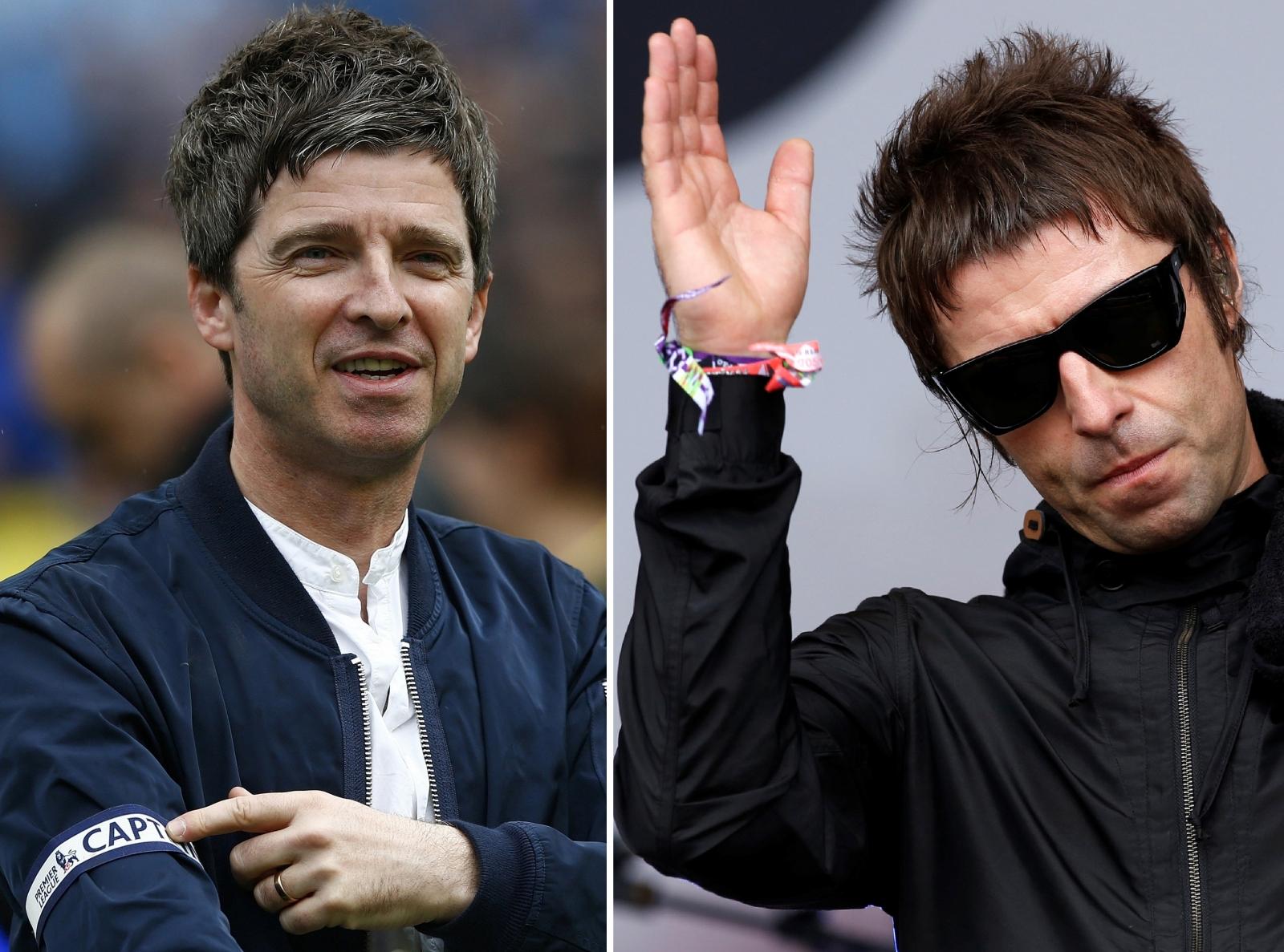 Noel Gallagher Liam Gallagher