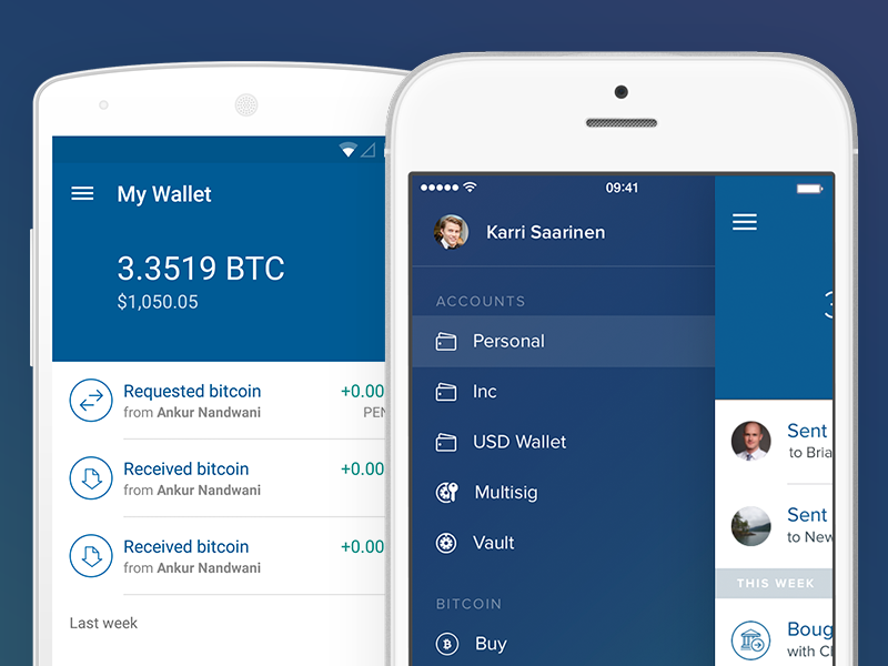 Coinbase iOS und Android App
