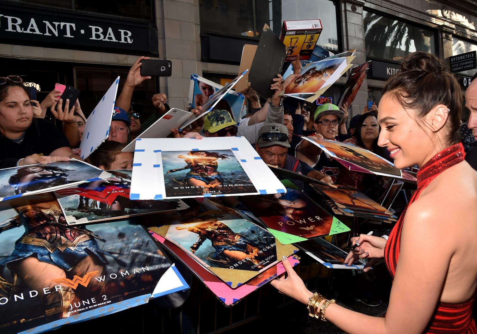 Gal Gadot at Wonder Woman premiere