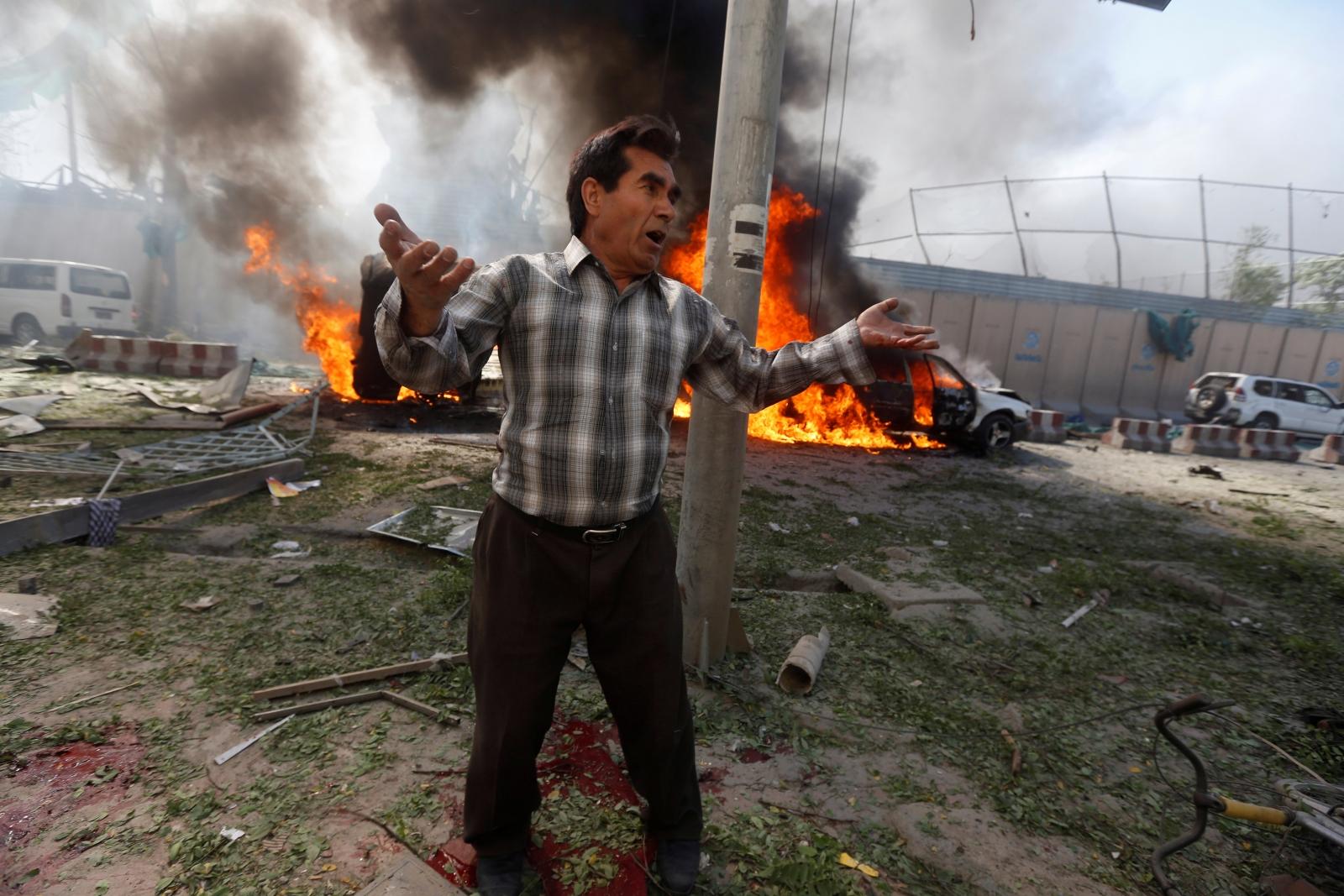 Kabul Afghanistan bomb blast explosion