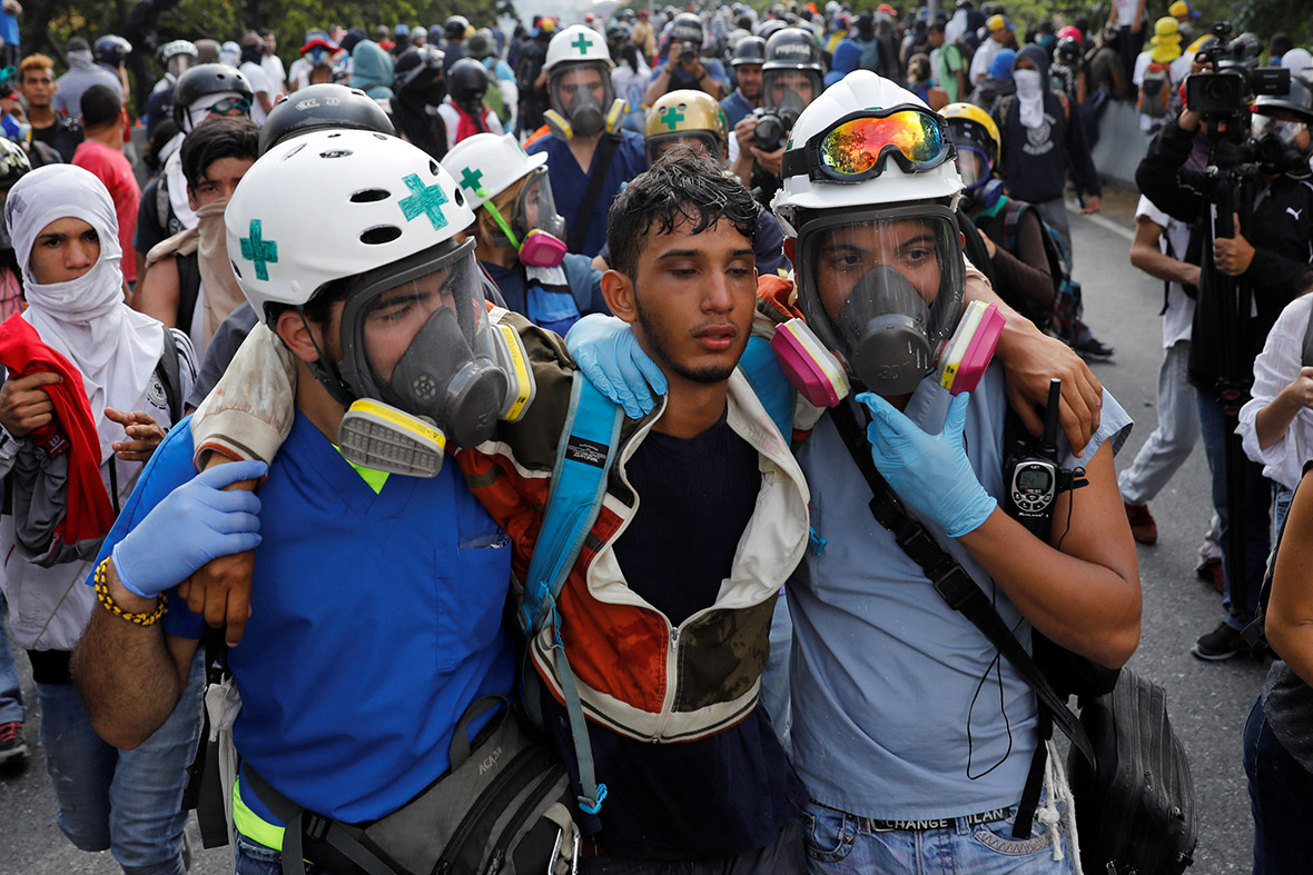 Venezuela protest volunteer medics