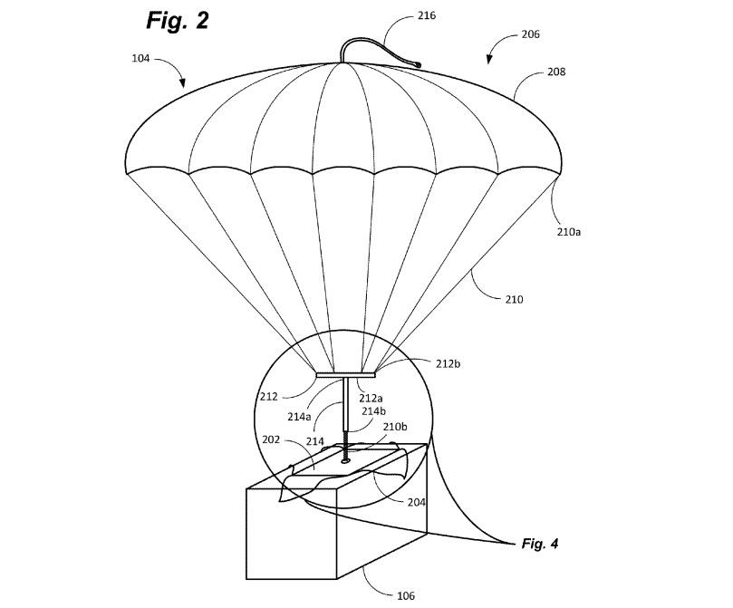Amazon Prime Air parachute