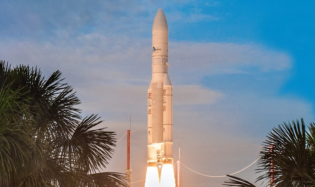Ariane space rocket