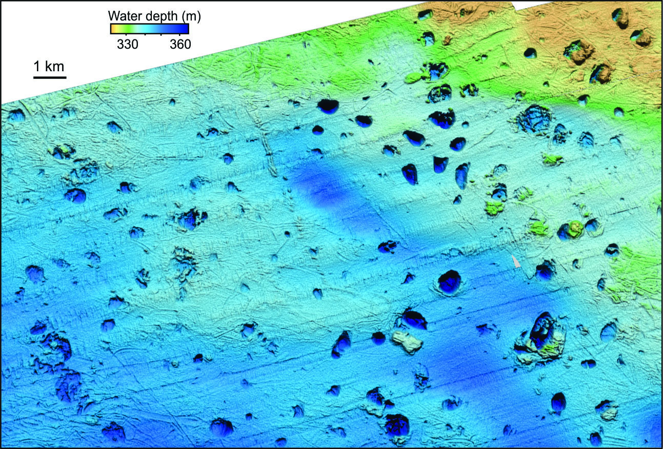 Methane craters