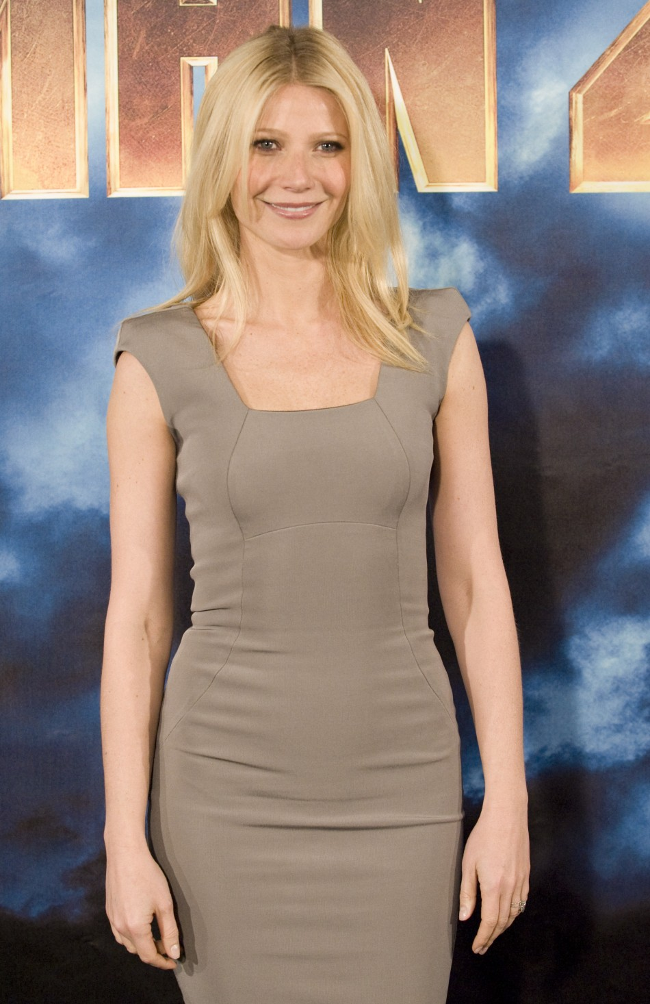 Actress Gwyneth Paltrow poses for Reuters for the movie Iron Man 2 in Los Angeles, California.