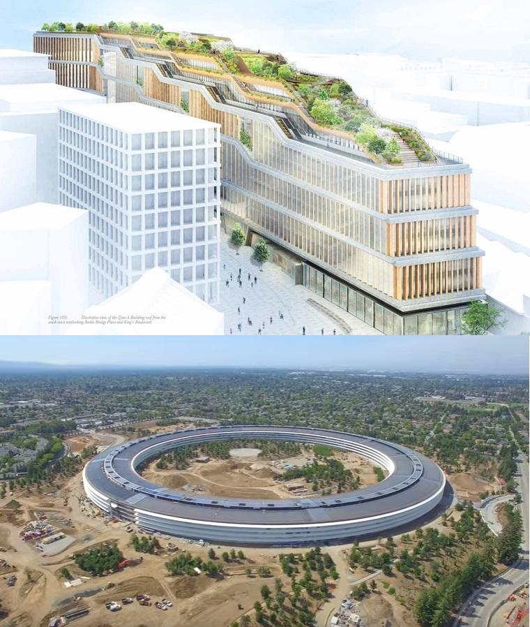 Google London HQ vs Apple Park