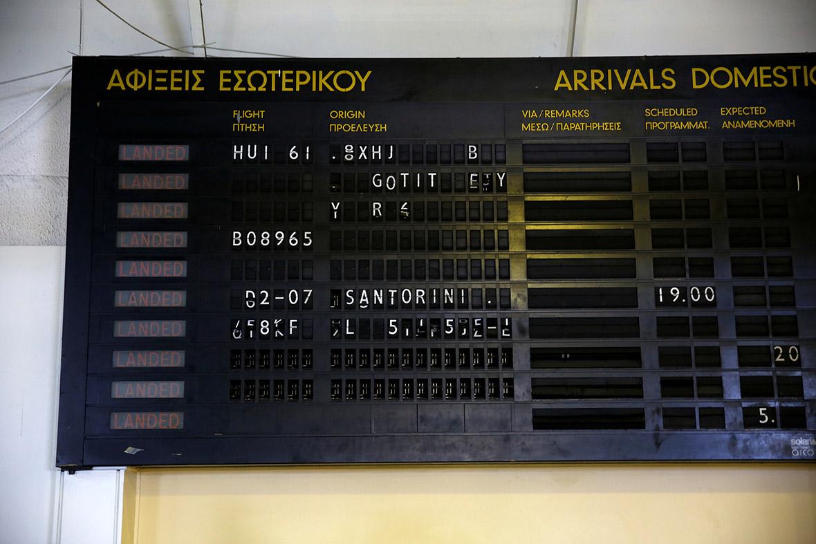Hellenikon airport Athens greece migrants refugees
