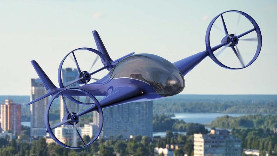 B Flying Car Drone Prepare for takeoff: T...