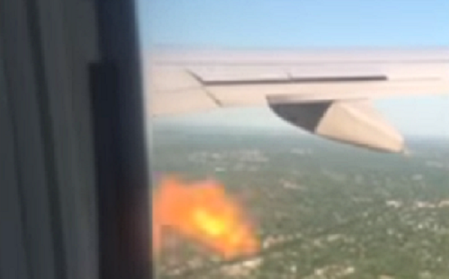 United Airlines fire