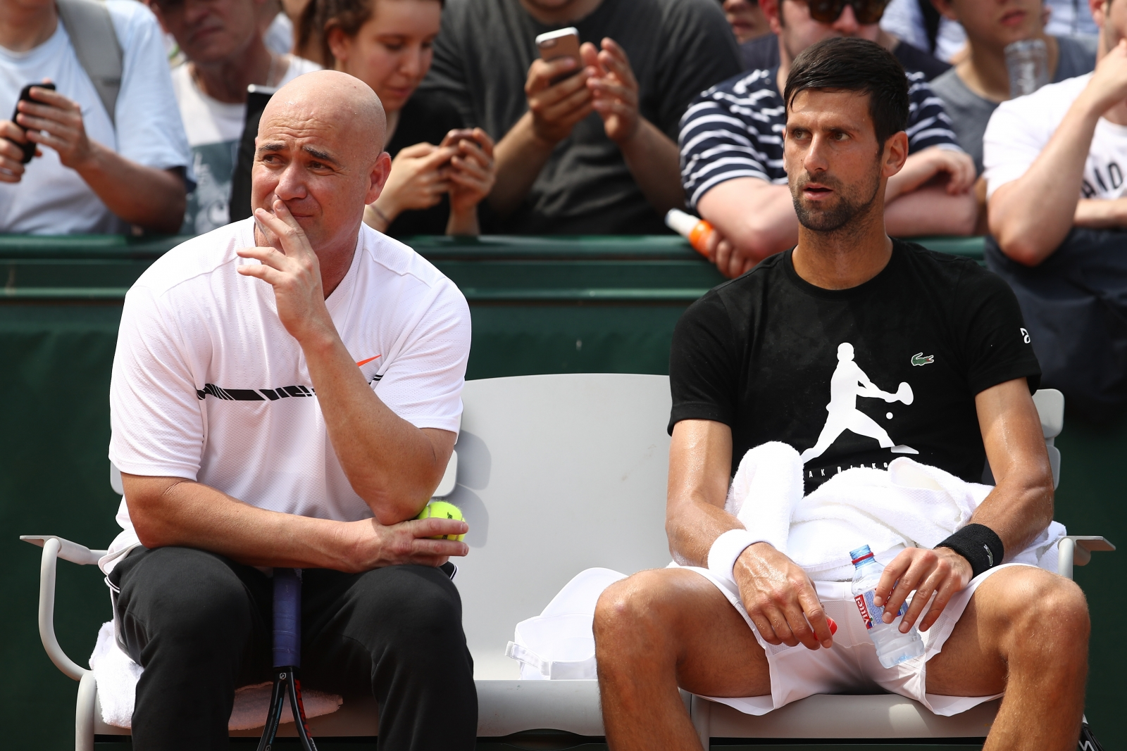 Andre Agassi and Novak Djokovic