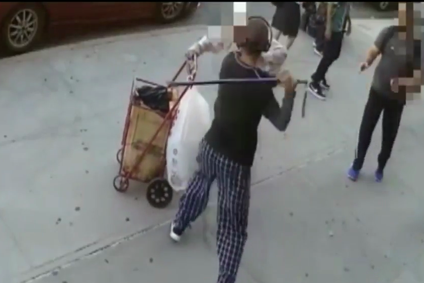 91 year old man beaten with cane