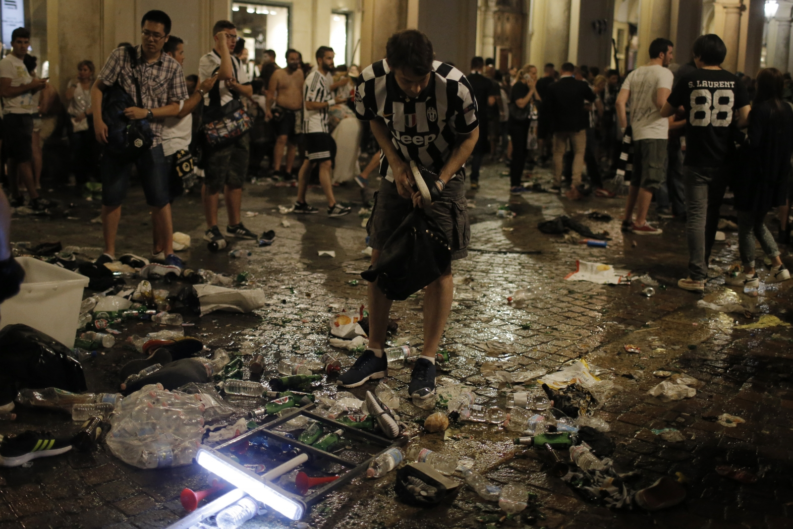 Italy football stampede Turin