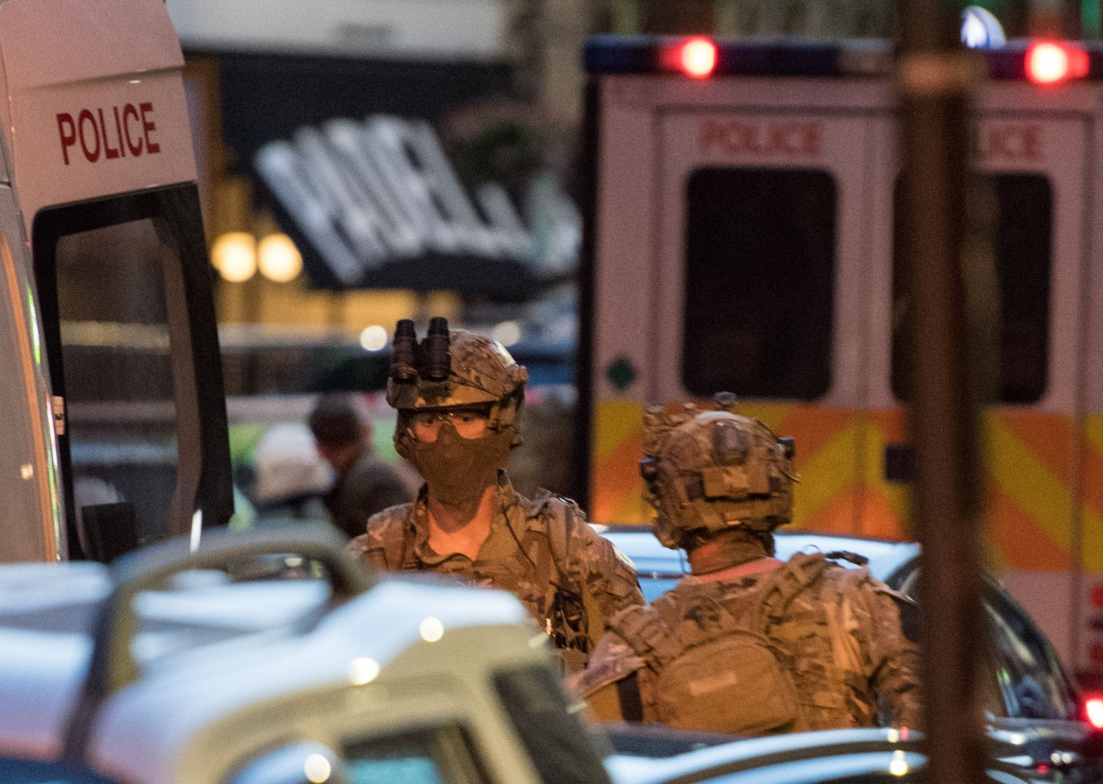 Armed officers at Borough Market