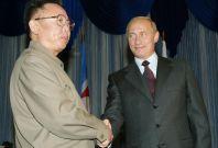 Kim Jong Il and Vladimir Putin