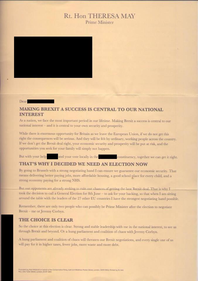 Conservative letter