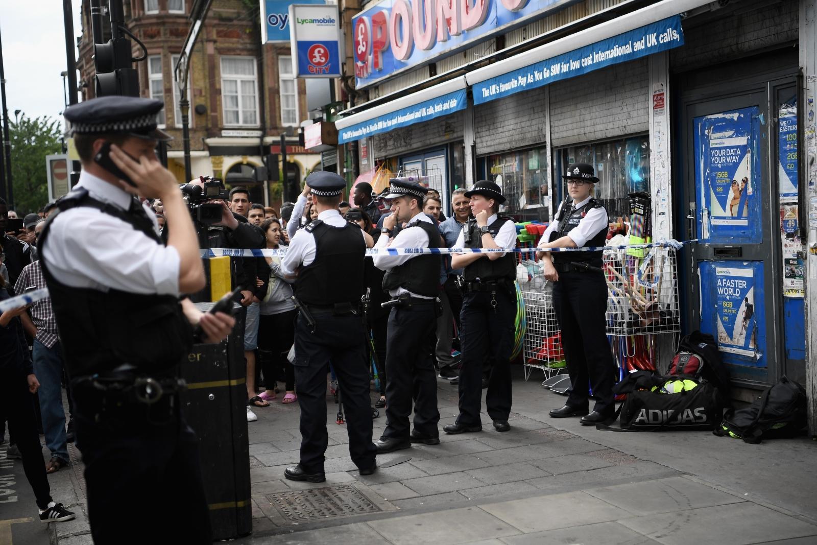 Police raid east London east Ham