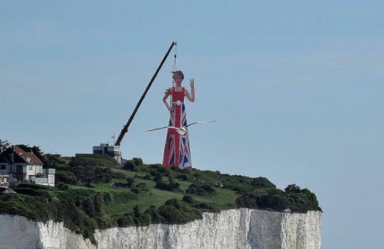 Theresa May white cliffs