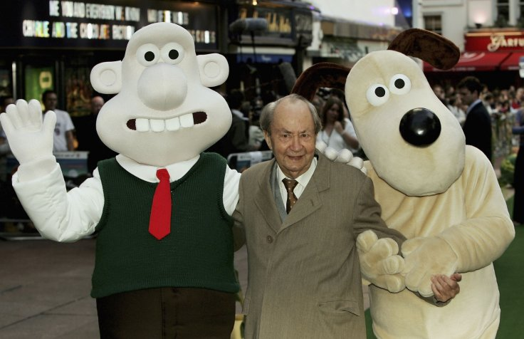 Peter Sallis with Wallace and Gromit
