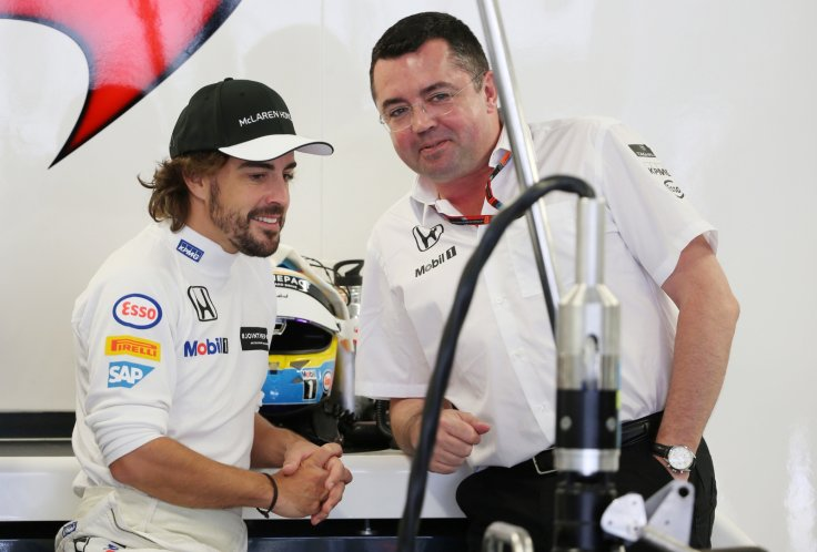 Fernando Alonso and Eric Boullier