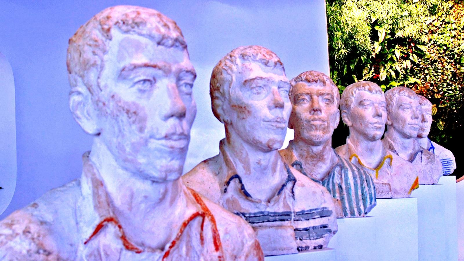 Busts of Yandex co-founder Ilya Segalovich