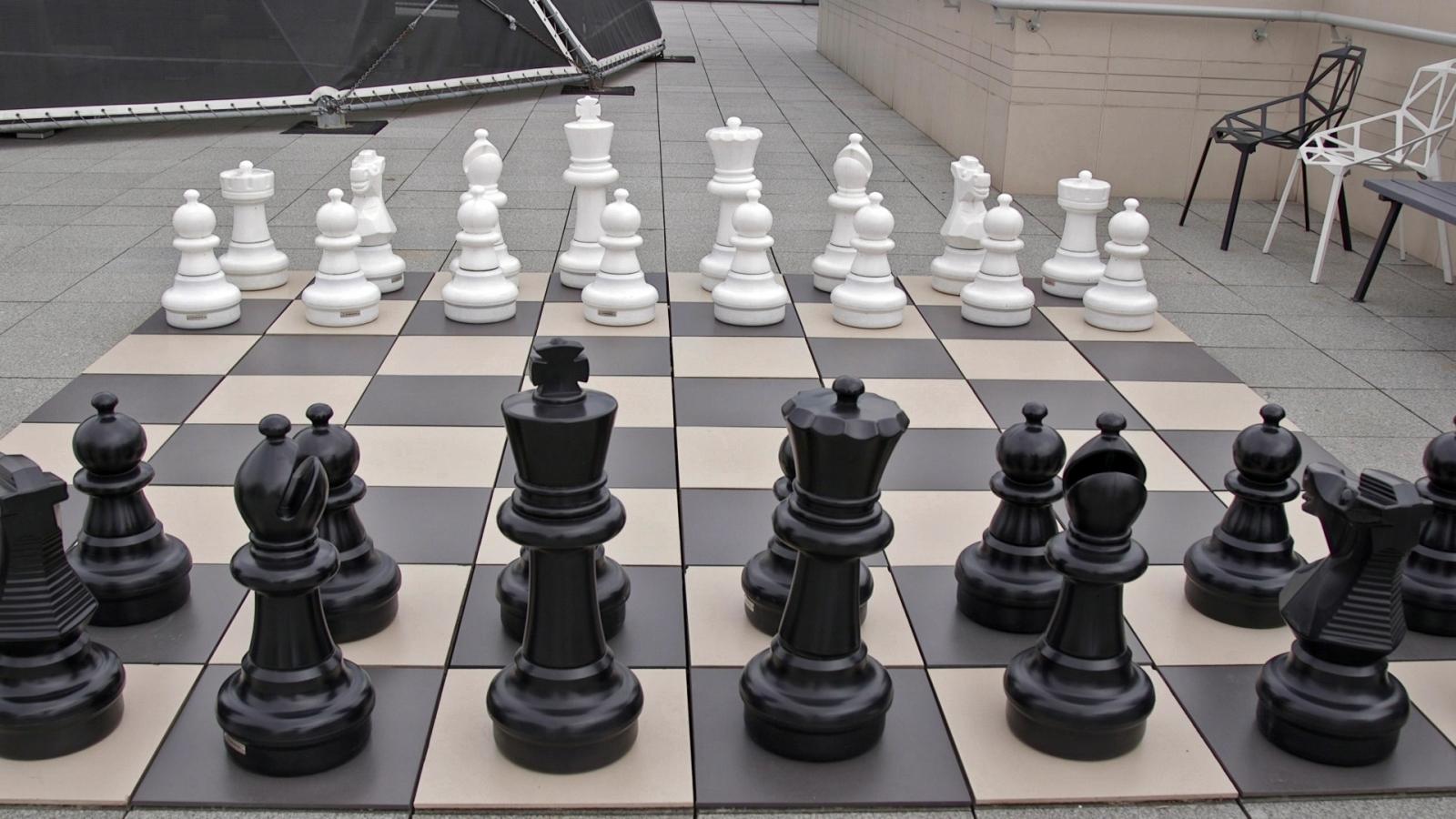 Yandex giant chess set
