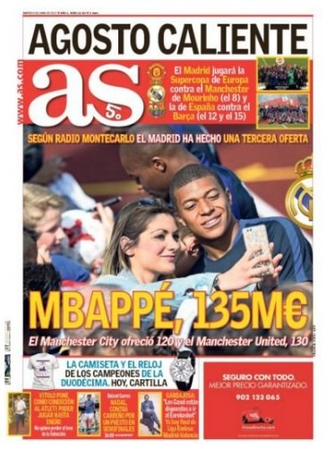 Mbappe AS front page