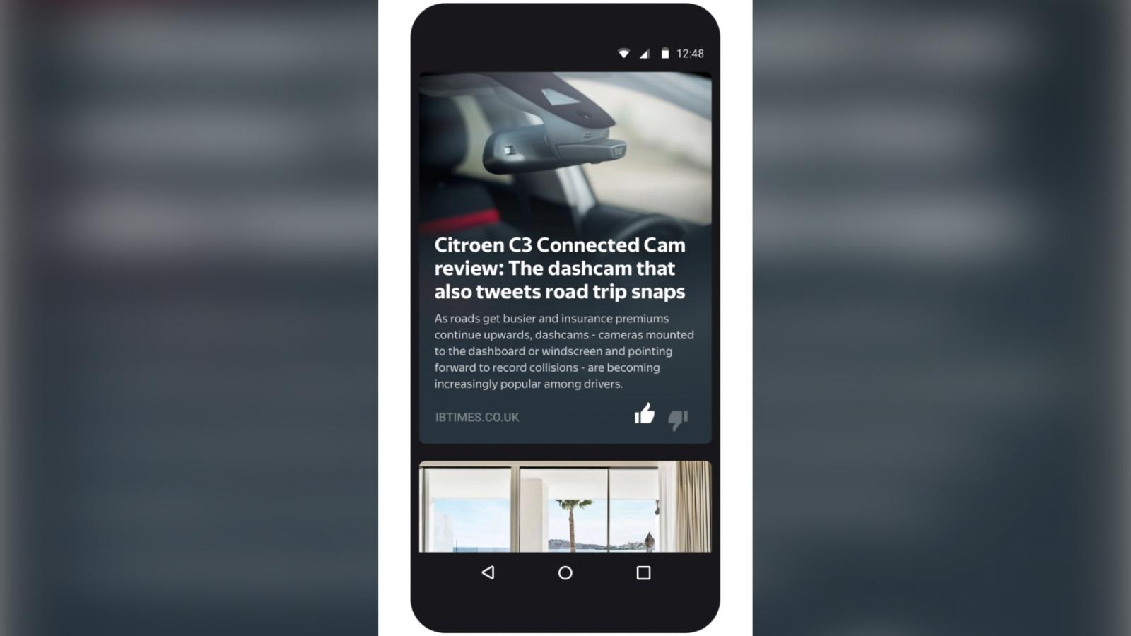 Yandex Zen's content recommendations on mobile