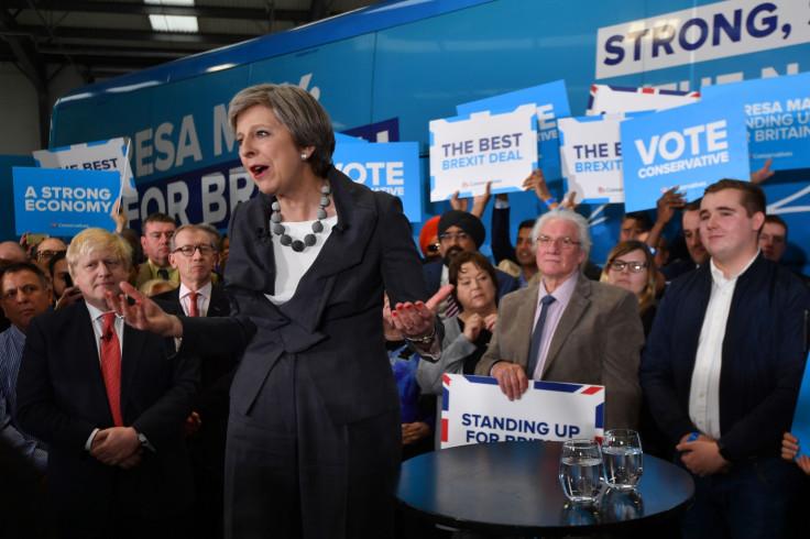 Theresa May addresses activists