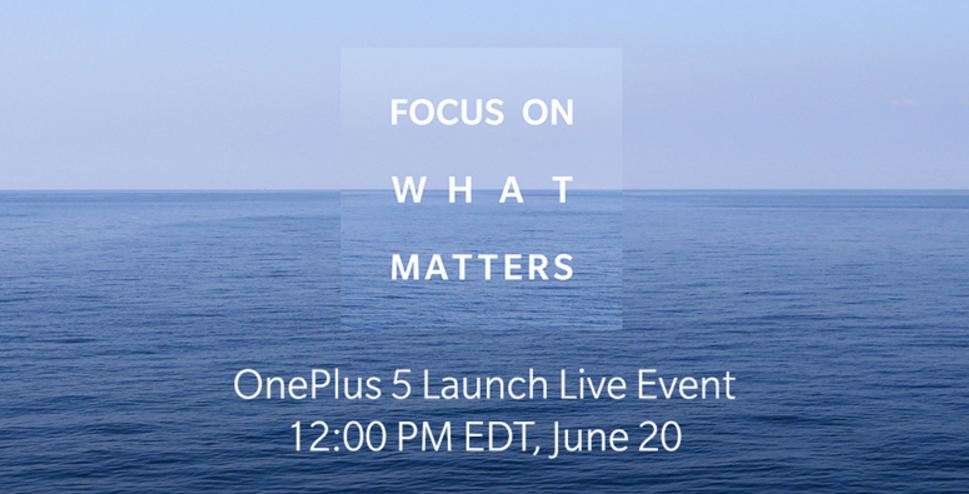 OnePlus 5 launching on 20 June