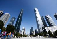 world's fastest elevator Guangzhou CTF Financial centre
