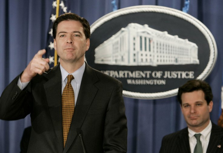 Christopher Gray behind  James Comey