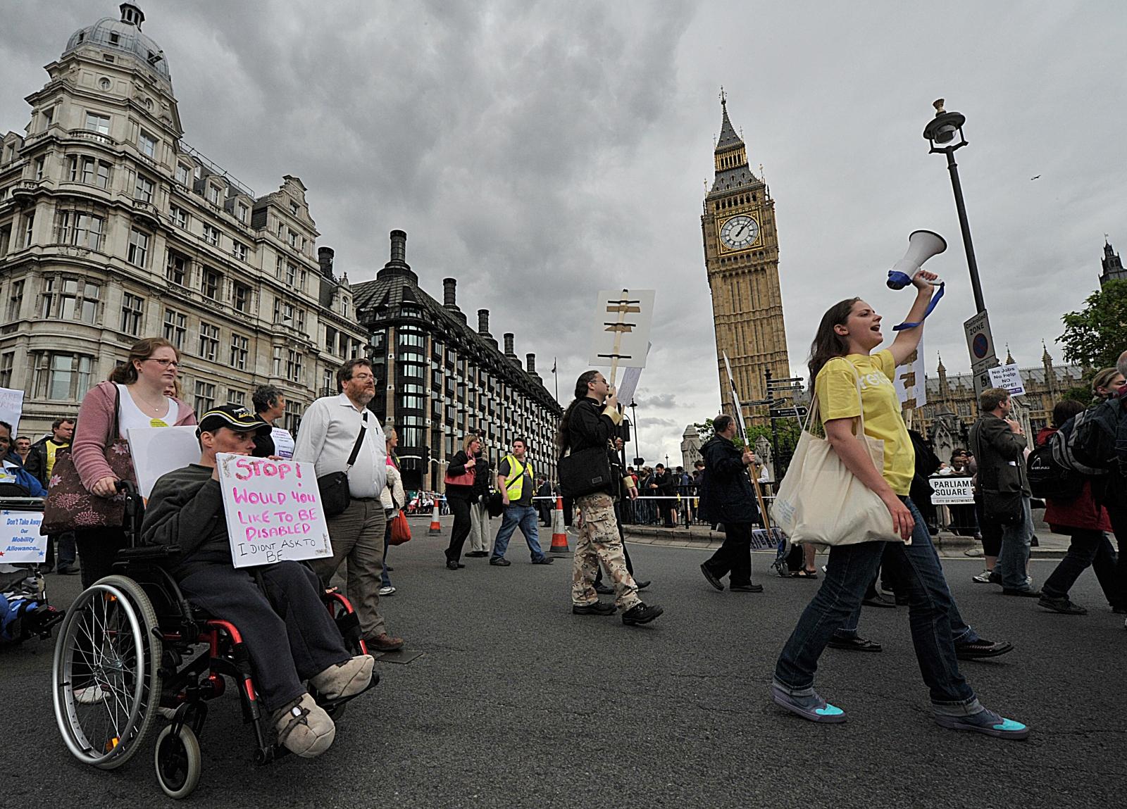 Disabled protestors