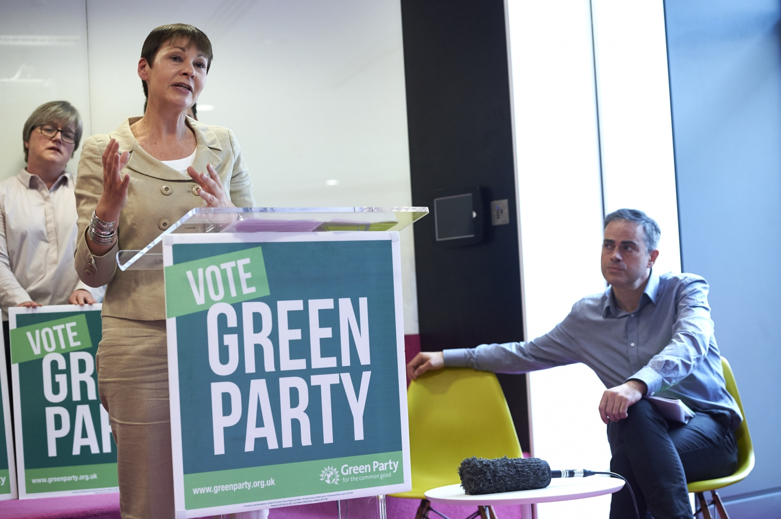 caroline lucas jonathan bartley green party