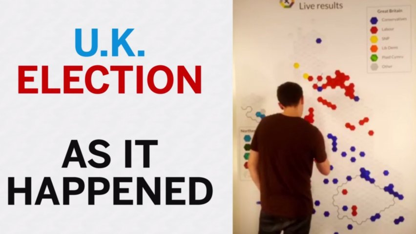 UK election time lapse video