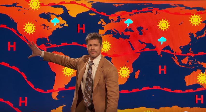 Brad Pitt The Doomsday Weatherman