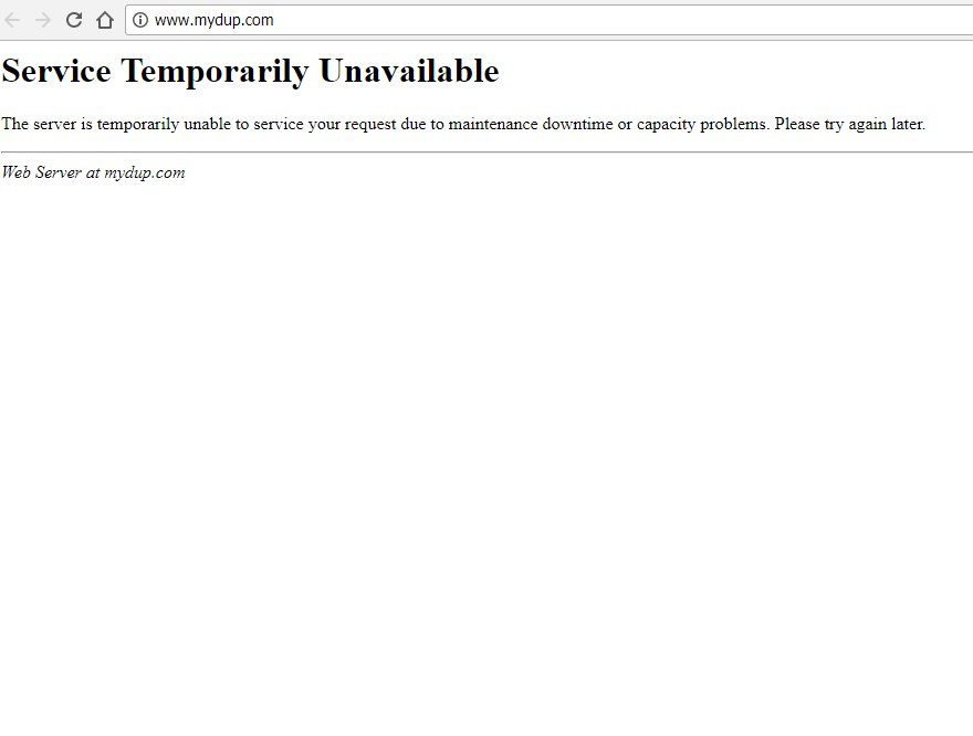 DUP website down
