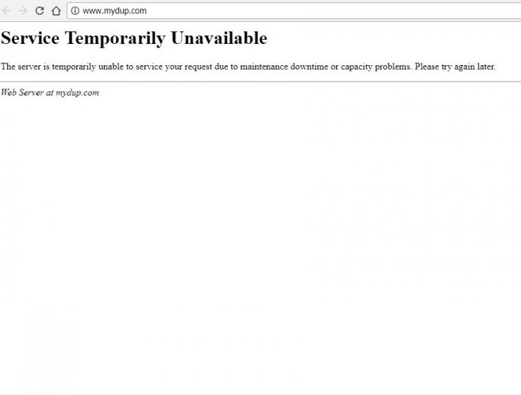 DUP website down