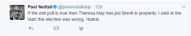 Paul Nuttall tweet