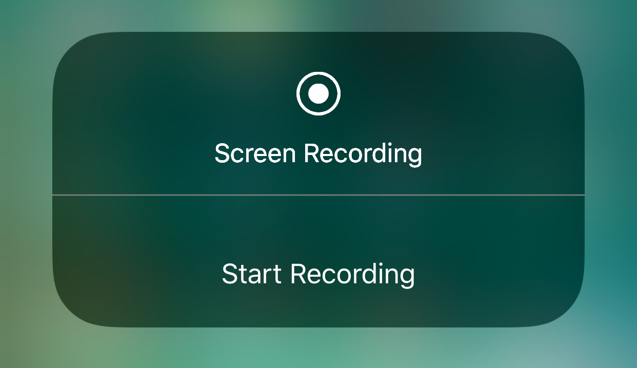 iOS 11 screen recording