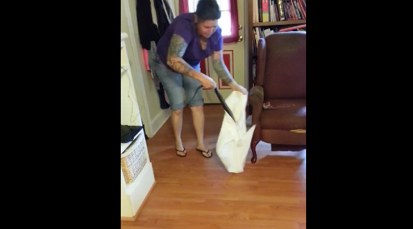 Woman Uses Pillowcase to Catch Six-Foot-Long Snake in Her Living Room