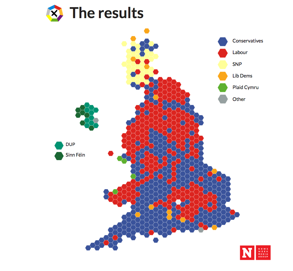 Map Of Uk 2017.6 Charts That Explain The Uk General Election Results