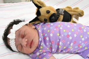 Baby found abandoned in car park