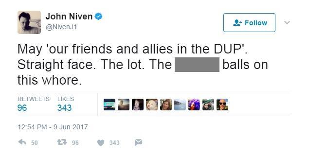 John Niven JK Rowling tweet