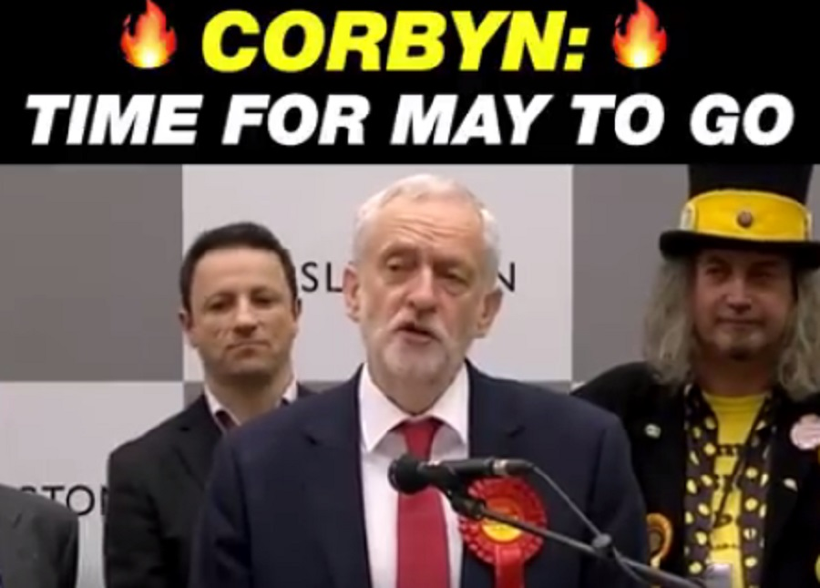 Momentum video of Corbyn