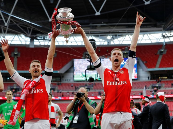Aaron Ramsey and Per Mertesacker